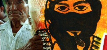 ZAPATISTAS BEGIN MARCH TO LOBBY FOR INDIAN RIGHTS