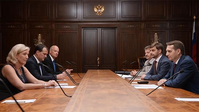 Marine Le Pen with State Duma Speaker Sergey Naryshkin