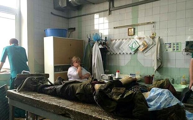 Фото - УНИАН. Луганский морг, наши дни