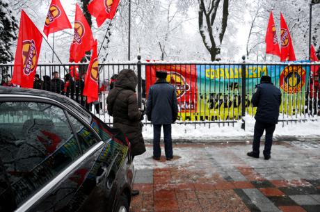 December 2012: Borotba protests outside Verkhovna Rada. (c) Sergei Kharchenko / Demotix.