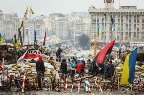 Though Ukraine's left split well before Maidan, the events of 2014 have left their mark. (c) Oleg Pereverzev / Demotix.