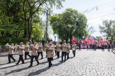 May 2014: the Socialist Party of Ukraine marks May Day in Kyiv. (c) Oleksii Vovk / Demotix.