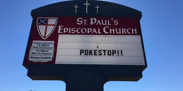 Покестоп в аризонской церкви